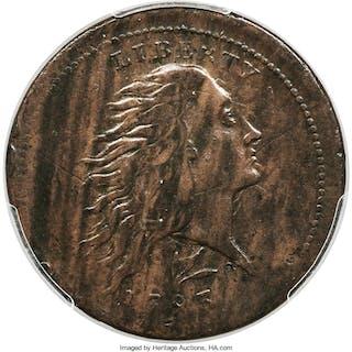 1793 Wreath 1C S-11c Lettered Edge, BN, MS