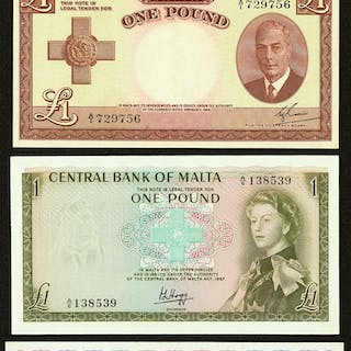 Malta Group Lot of 4 Examples Extremely Fine-About Uncirculated. ...