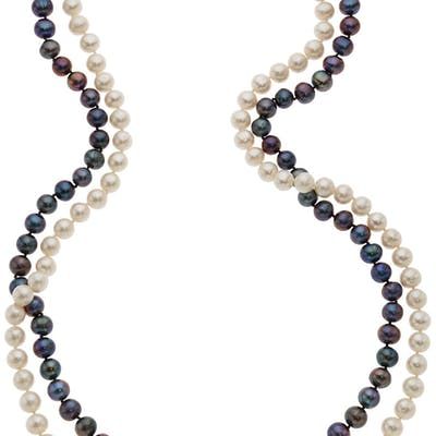 South Sea Cultured Pearl, Gold Necklace, David Webb  ...