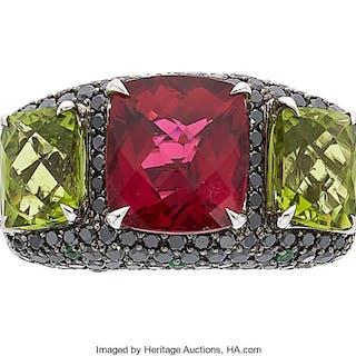 Multi-Stone, Colored Diamond, White Gold Ring ...
