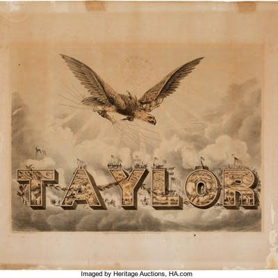 Zachary Taylor: Iconic Campaign Poster.  ...