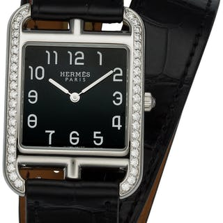 Hermès 29mm Black Alligator & Onyx Diamond Cape Cod Watch X, 2016