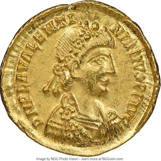 Valentinian III, Western Roman Empire (AD 425-455). AV solidus (22mm