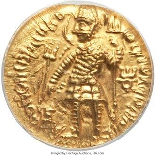 INDIA. Kushan Empire. Vasudeva I (ca. AD 190-230). AV dinar (24mm