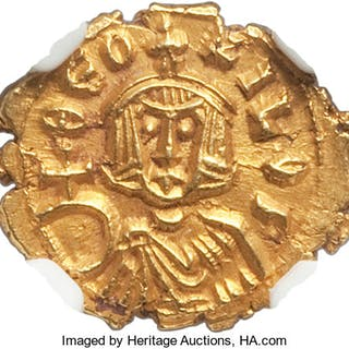 Theophilus (AD 829-842). AV semissis (14mm, 1.64 gm, 5h). NGC MS S