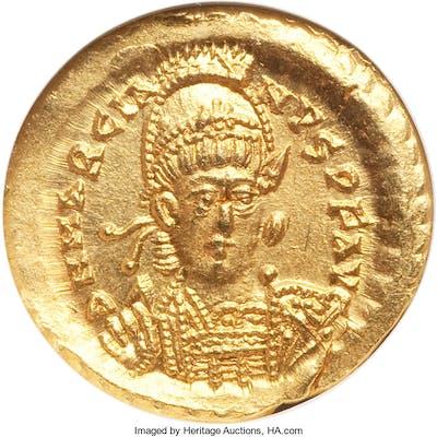 Marcian, Eastern Roman Empire (AD 450-457). AV solidus (19mm, 6h).