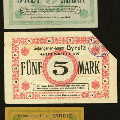 Germany Prisoner of War Dyrotz Very Fine or better. ... (Total: 5 items)