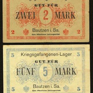 Germany Prisoner of War Bautzen Very Fine. ... (Total: 4 items)