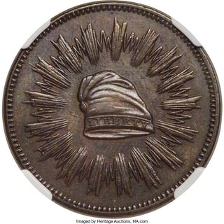 1836 Medal J-MT-20 Copper 1st Steam Coinage, Feb. 22, SP, BN
