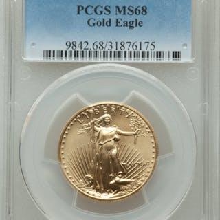 1990 $25 Half-Ounce Gold Eagle, MS