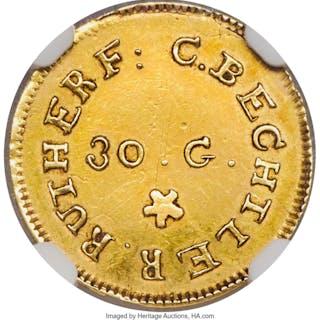 1831-34 C. Bechtler Dollar, 30G.