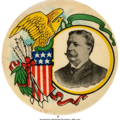 """William Howard Taft: Gorgeous """"Golden Age"""" Button by Ehrman. ..."""