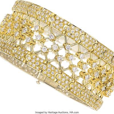 Diamond, Gold Bracelet ...