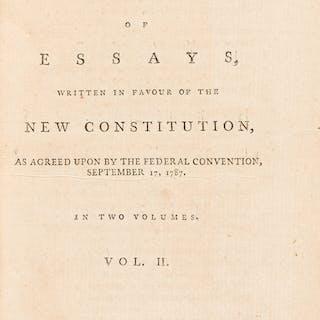 [Alexander Hamilton, James Madison, and John Jay]. The Federalist: