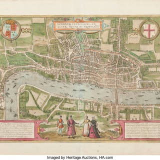 [London]. Georg Braun and Franz Hogenberg. Londoninum, feracissimi