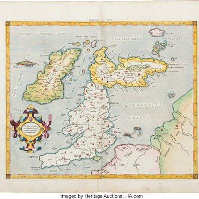 Gerard Mercator. [British Isles]. Eur. I Tab. [Europae Tabula I. In