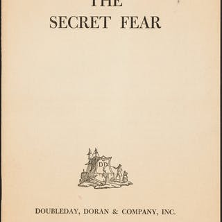 A. E. W. Mason. The Secret Fear. New York: 1940. First edition. ...