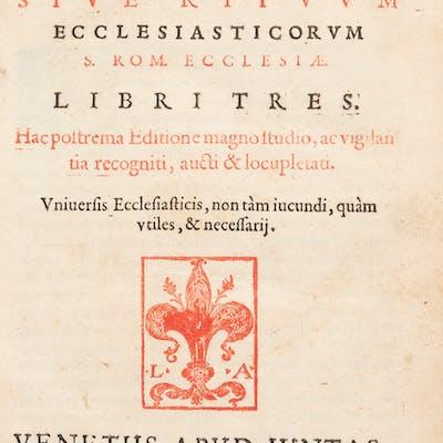 [Unknown author]. Sacrarum Cæremoniarum. Venice: 1582. Expanded edition