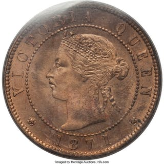 Prince Edward Island. Victoria Cent 1871 MS66 Red ICCS,...