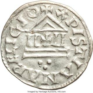 Carolingian. Louis the Pious (814-840) Denier ND (822/3-840) About XF, ...