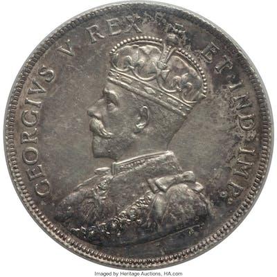George V 50 Cents 1911 AU58 ICCS,...