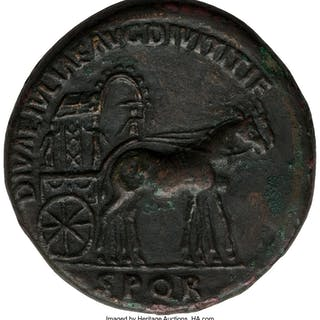 Diva Julia Titi (ca. AD 79-90/1). AE sestertius (29mm, 28.51 gm, 5h).