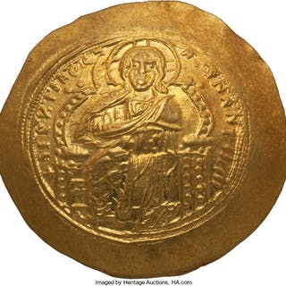 Constantine IX Monomachus (AD 1042-1055). AV histamenon nomisma (27mm