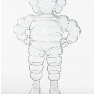 KAWS (b. 1974) Chum (Clear), 2002 Cast resin 12-5/8 x 8-1/4 x 5 inches
