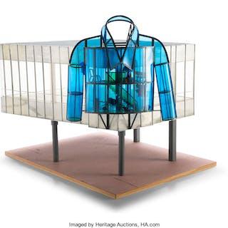 Dennis Oppenheim (American, 1938-2011) Blue Shirt, 2000 Rolled aluminum