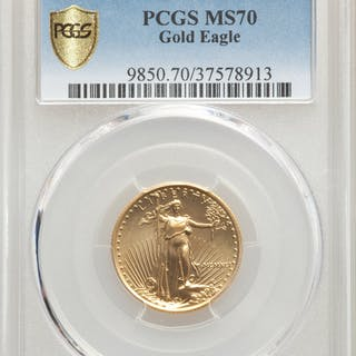 1991 $10 Quarter-Ounce Gold Eagle, MS