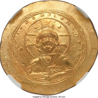 Constantine IX Monomachus (AD 1042-1055). AV histamenon nomisma (28mm