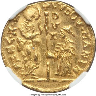 Venice. Ludovico Manin gold Zecchino ND (1789-1797) MS64 NGC,...