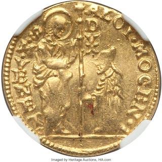 Venice. Alvise Mocenigo IV gold Zecchino ND (1763-1778) MS63 NGC,...