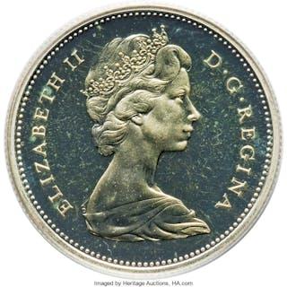 Elizabeth II Proof 25 Cents 1965 PR65 Cameo PCGS,...