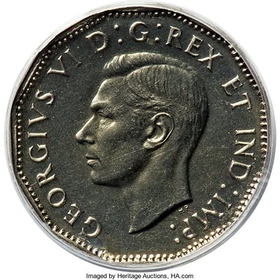 "George VI Specimen ""Maple Leaf"" 5 Cents 1947 SP66 PCGS,..."