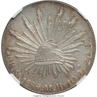 Republic 8 Reales 1889 Mo-MH MS65 NGC,...
