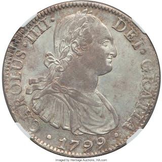 Charles IV 8 Reales 1799 Mo-FM MS62 NGC,...