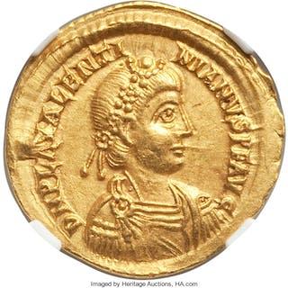 Valentinian III, Western Roman Empire (AD 425-455). AV solidus (21mm