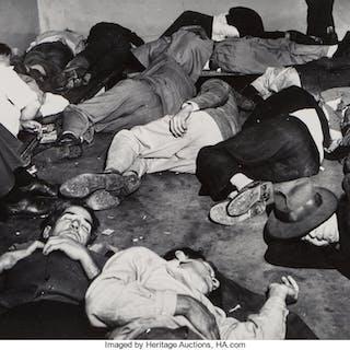 Weegee (American, 1899-1968) Drunk Tank, Los Angeles, circa 1950 Gelatin