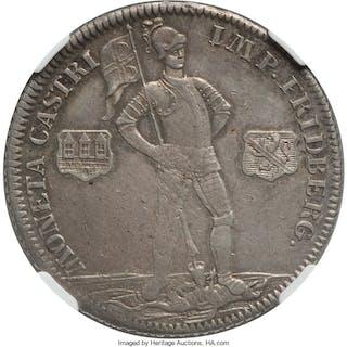 Friedberg. Johann Eitel II 2/3 Taler 1747-CPS AU50 NGC,...