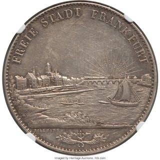 Frankfurt. Free City 2 Taler (3-1/2 Gulden) 1840 AU58 NGC,...