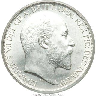 Edward VII Crown 1902 MS64 PCGS,...