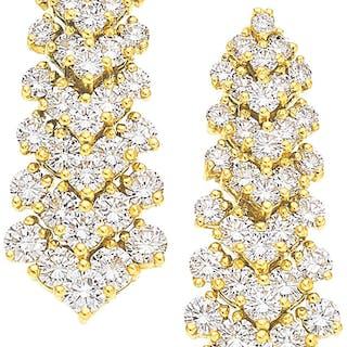 Diamond, Gold Earrings ...