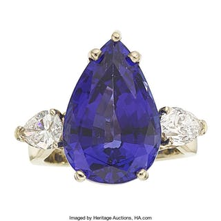Tanzanite, Diamond, Gold Ring ...