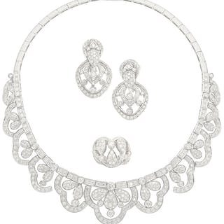 Diamond, White Gold Jewelry Suite, Andreoeli ...
