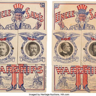 Theodore Roosevelt: Great White Fleet Mechanical Postcards. ... (Total: