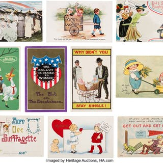 Woman's Suffrage: Ten Colorful Postcards. ...