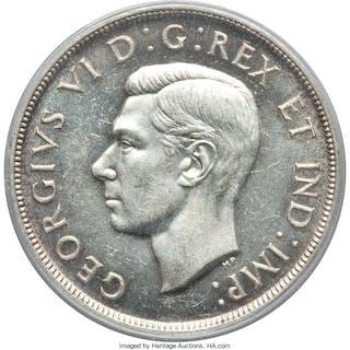 "George VI ""Pointed 7"" Dollar 1947 MS62 PCGS,..."