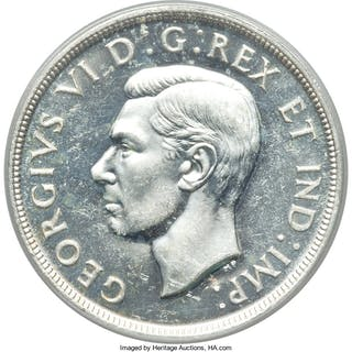 "George VI ""Blunt 7"" Dollar 1947 MS63 PCGS,..."