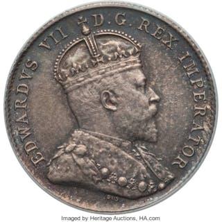 Edward VII 10 Cents 1908 MS63 PCGS,...